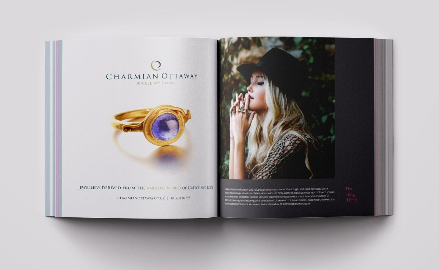 Advert in luxury magazine